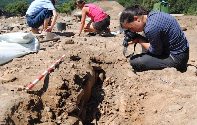 esqueleto medieval Castro de San Lourenzo