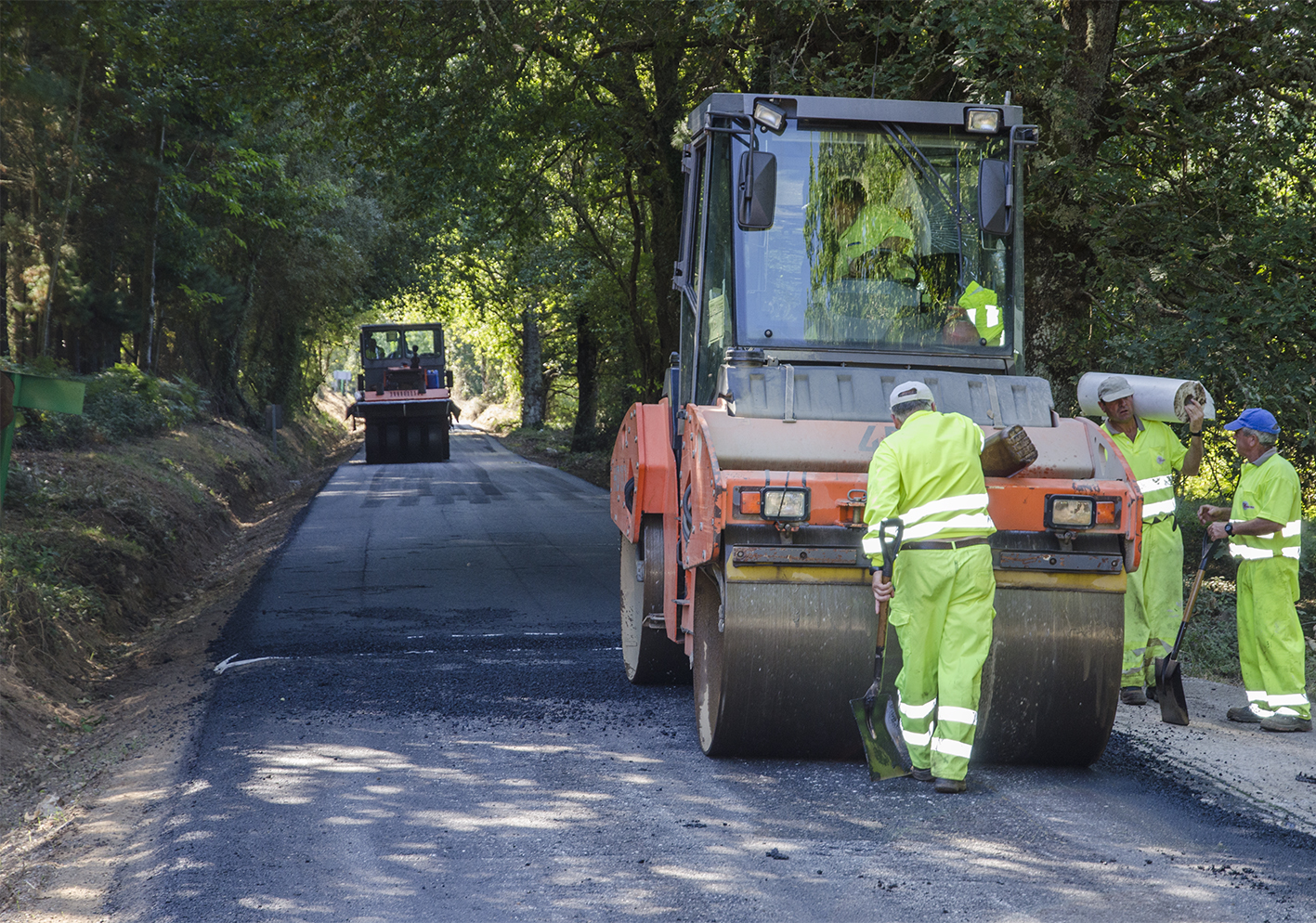 Obras en la carretera de Vilachá