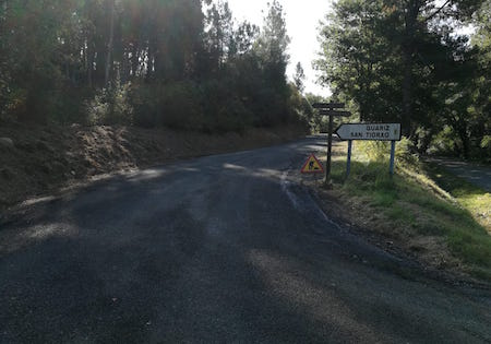 Obra estrada A Pobra do Brollón