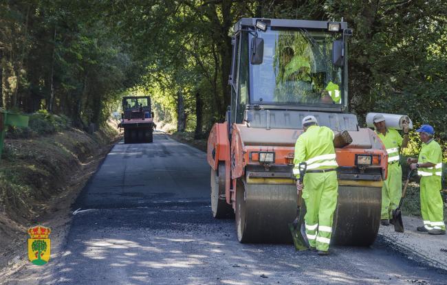 Obras na estrada de Vilachá